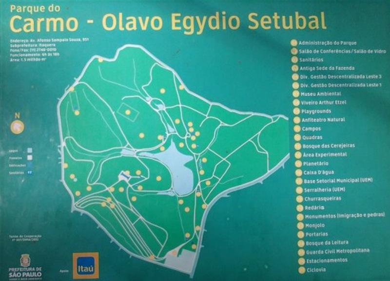 Parque do Carmo Mapa